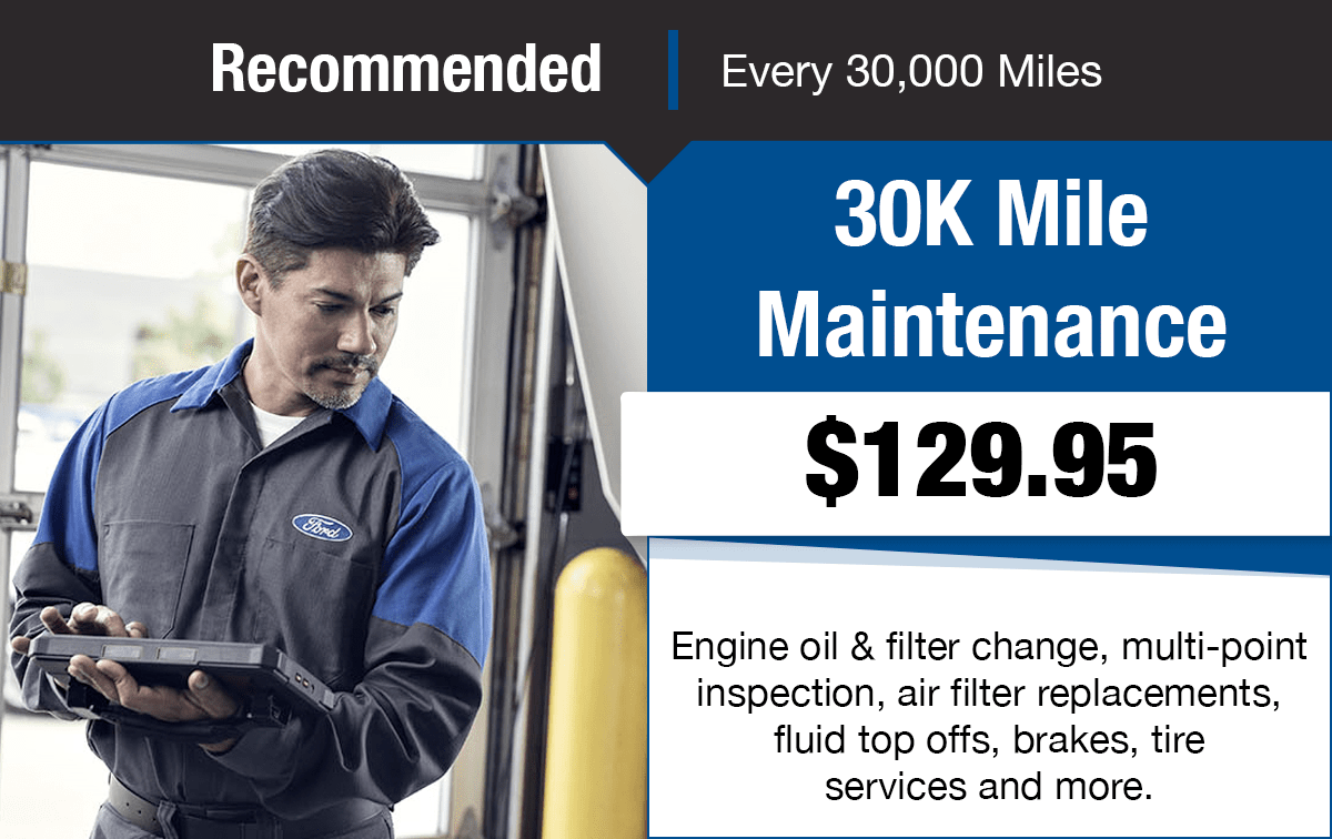 Ford 30K Mile Maintenance Service Special Coupon