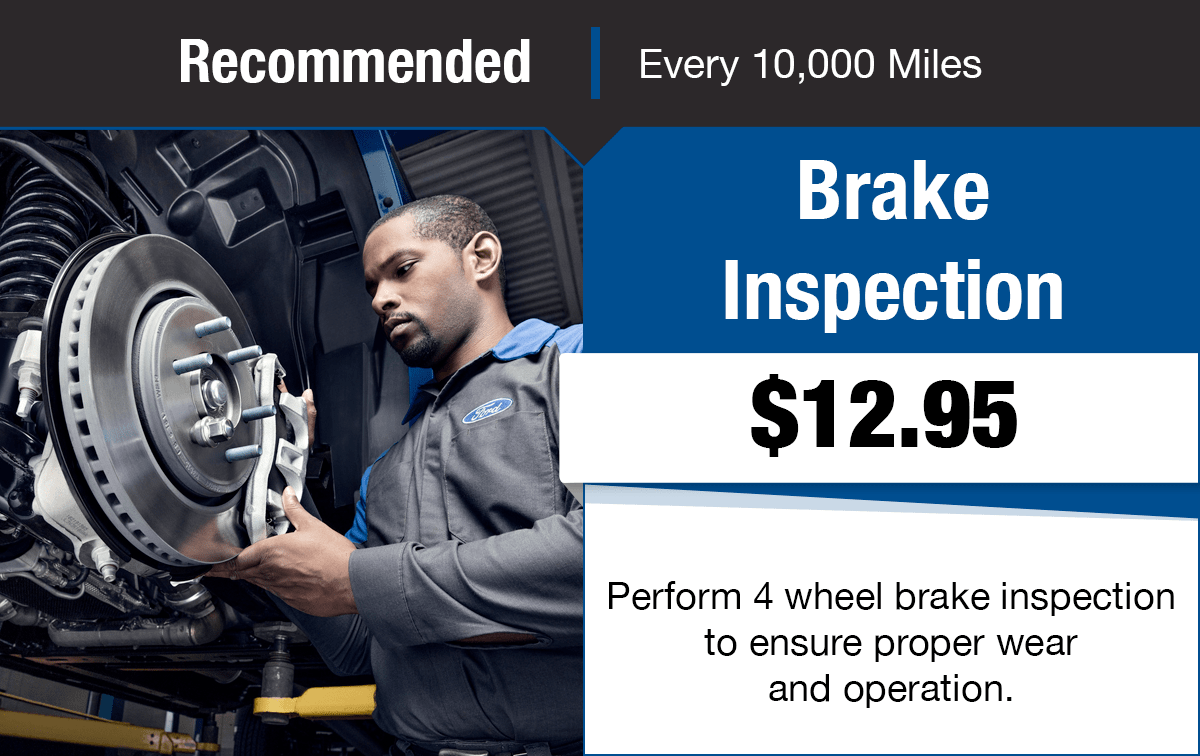 Ford Brake Inspection Service Special Coupon