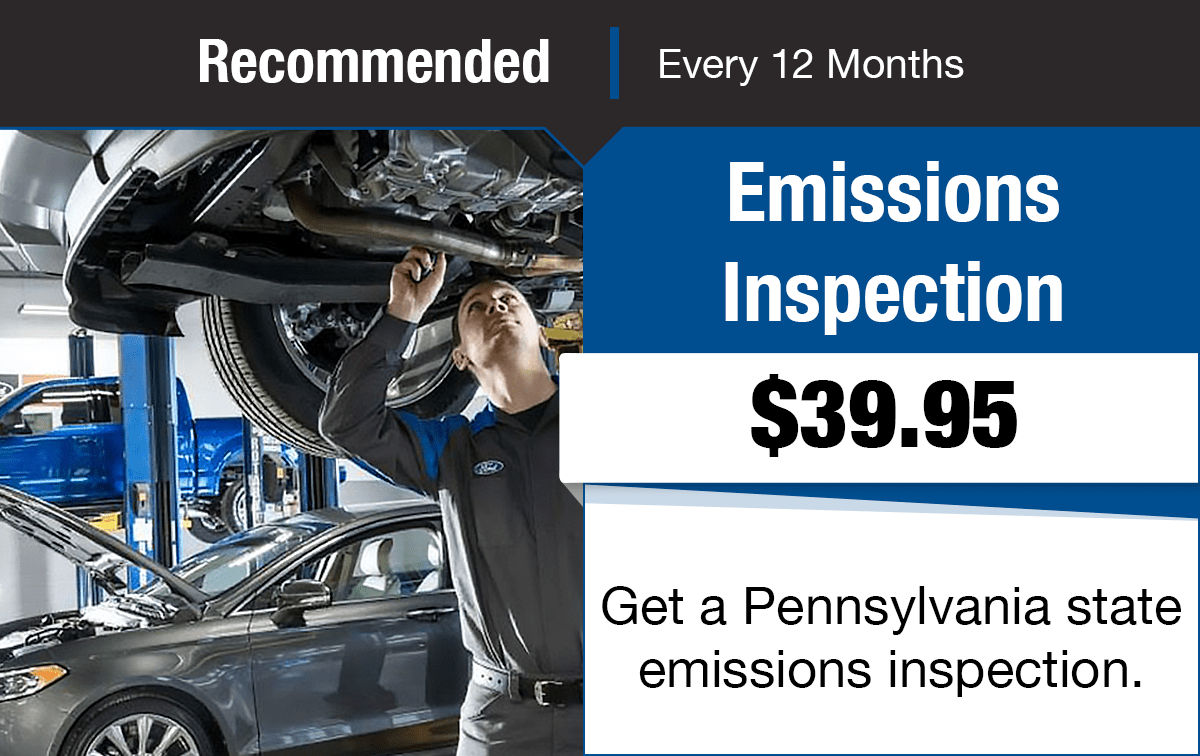 Ford Emissions Inspection Service Special Coupon