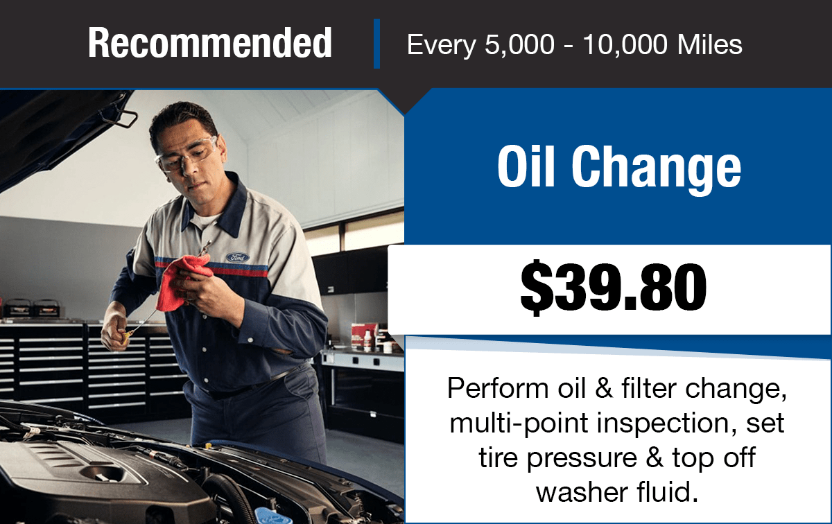 Ford Oil Change Service Special Coupon
