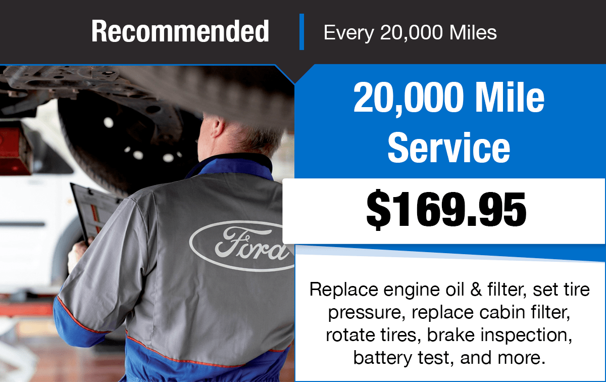 Ford 20,000 Mile Service Special Coupon