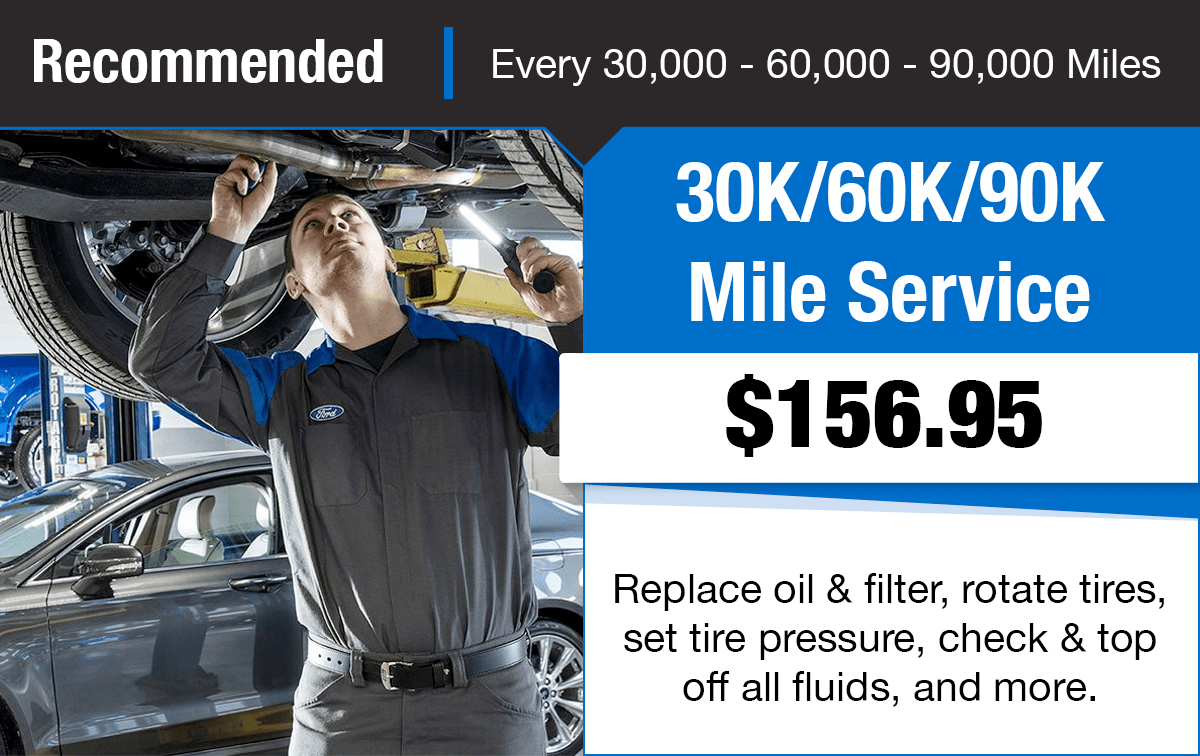 Ford 30K/60K/90K Mile Service Special Coupon