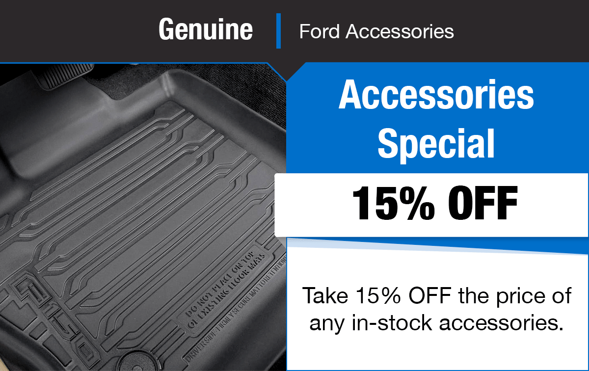 Ford 15% OFF Accessories Special Coupon