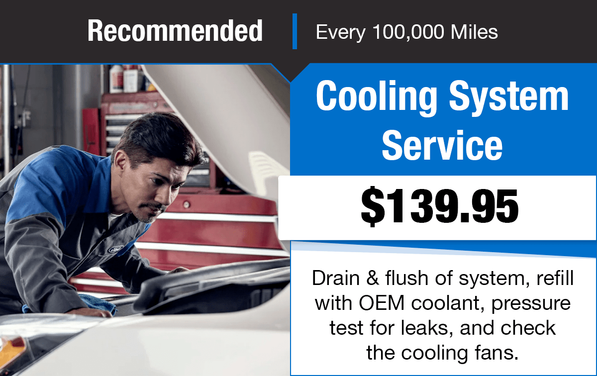 Ford Cooling System Service Special Coupon