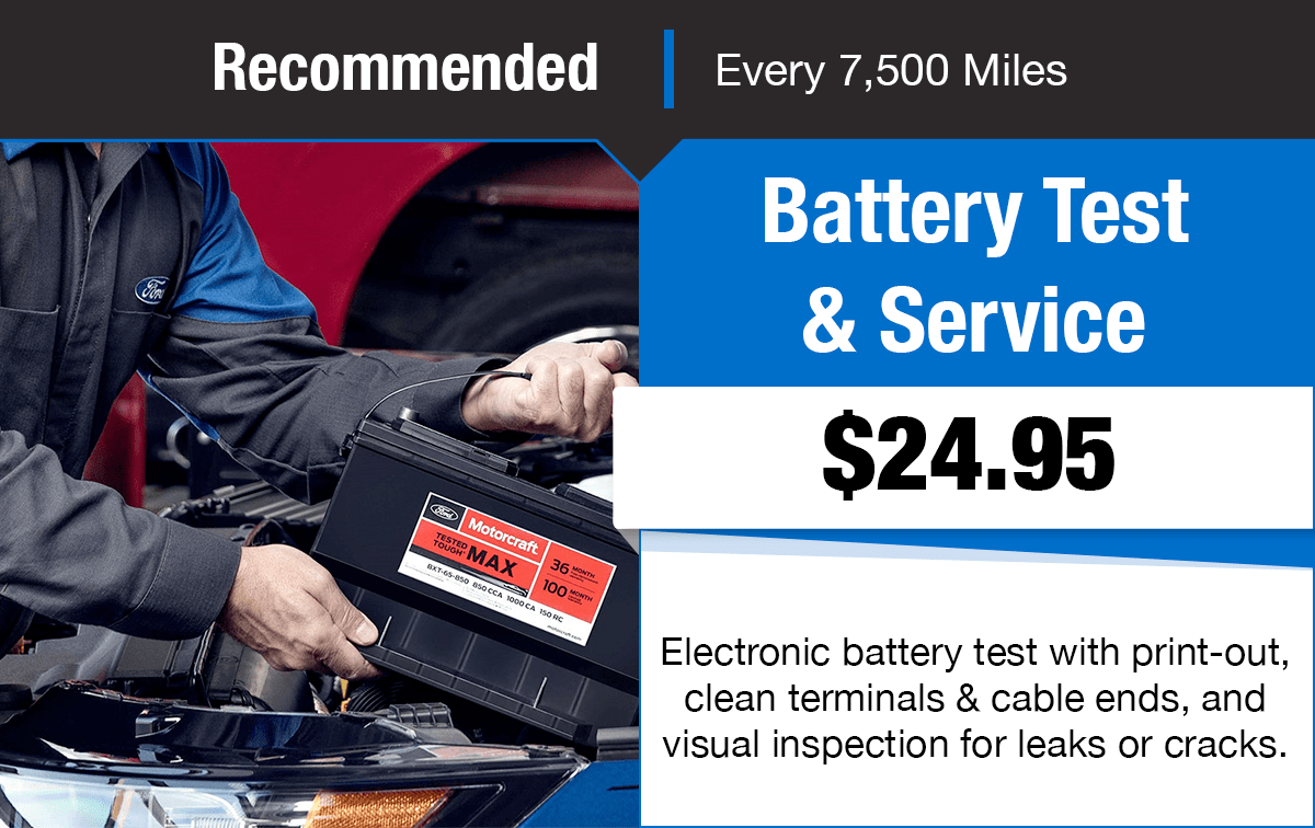 Ford Battery Test & Service Special Coupon