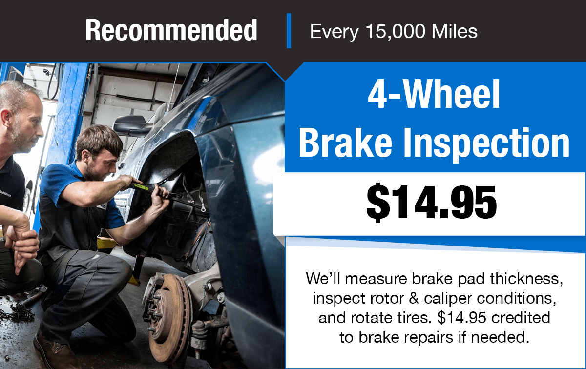 Ford 4-Wheel Brake Inspection Service Special Coupon