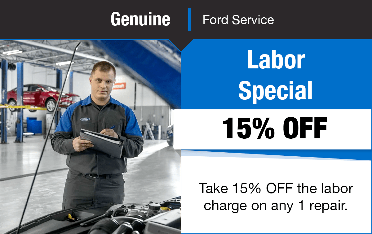 Ford 15% OFF Labor Service Special Coupon