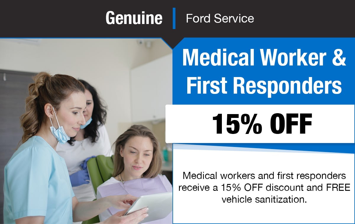 Ford Medical Worker & First Responders Service Special Coupon