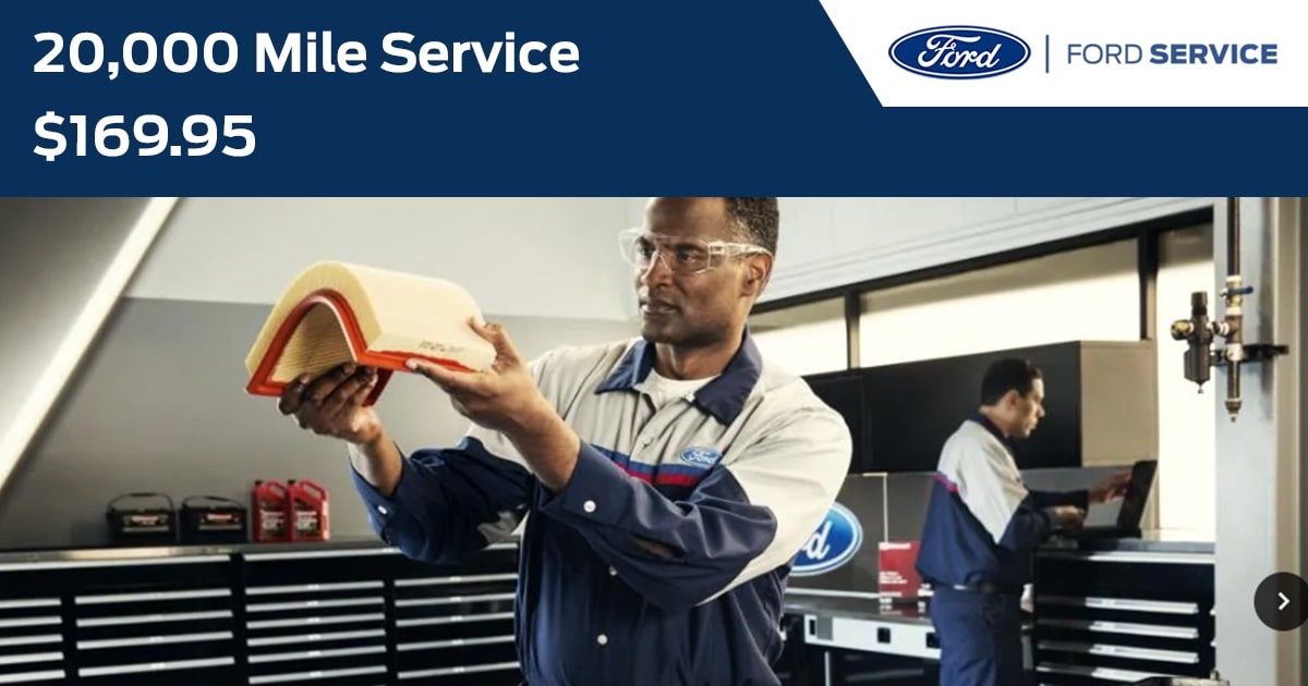 Ford 20,000 Mile Service Service Special Coupon
