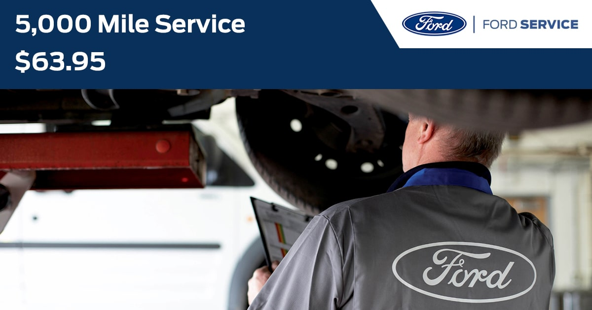 Ford 5,000 Mile Service Service Special Coupon