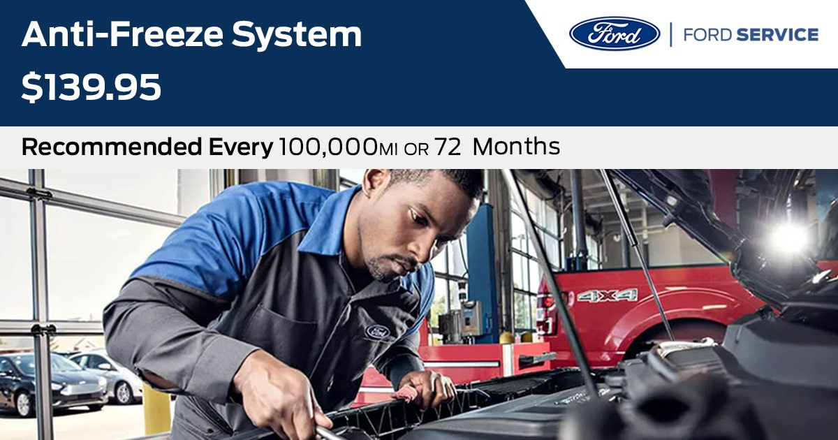 Ford Anti-Freeze System Service Special Coupon