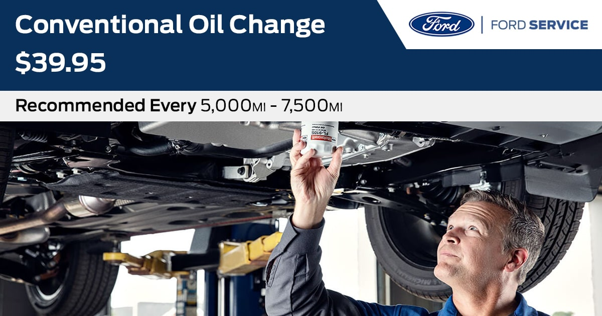 Ford Conventional Oil Change Service Special Coupon