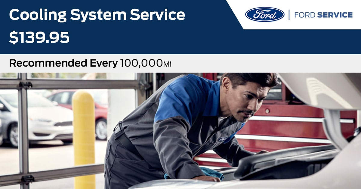 Ford Cooling System Service Service Special Coupon