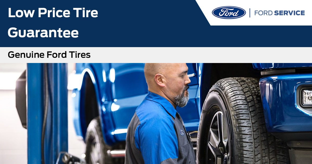 Ford Low Price Tire Guarantee Service Special Coupon