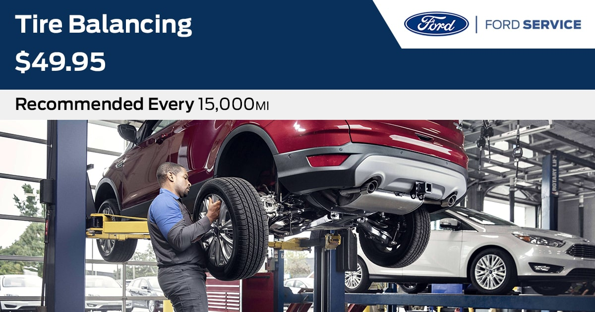 Ford Tire Balancing Service Special Coupon