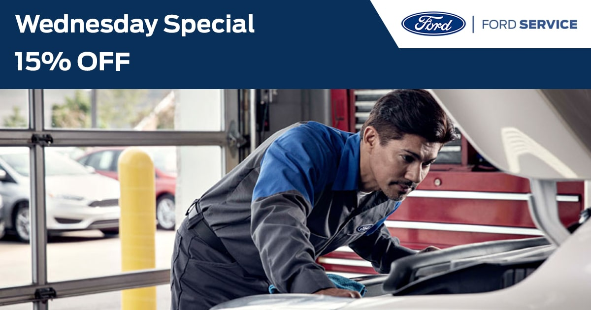 Ford Wednesday Service Service Special Coupon