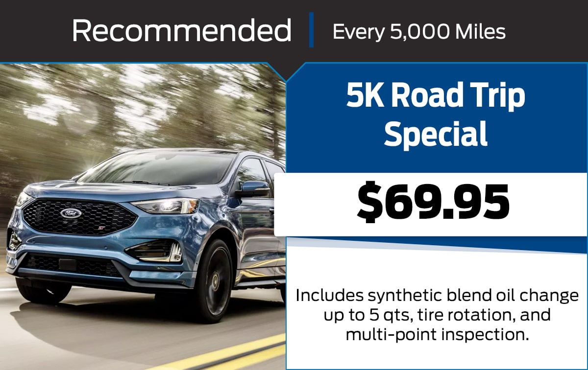 Ford 5K Road Trip Service Special Coupon