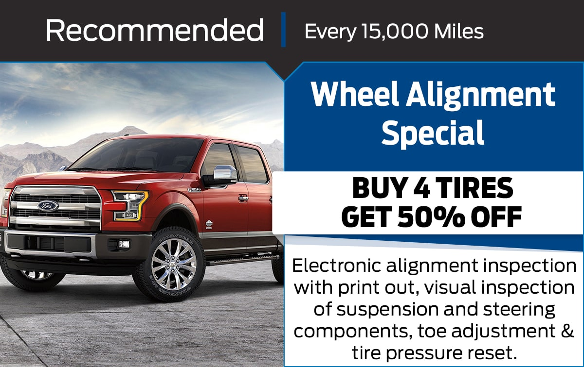 Ford Wheel Alignment Service Special Coupon