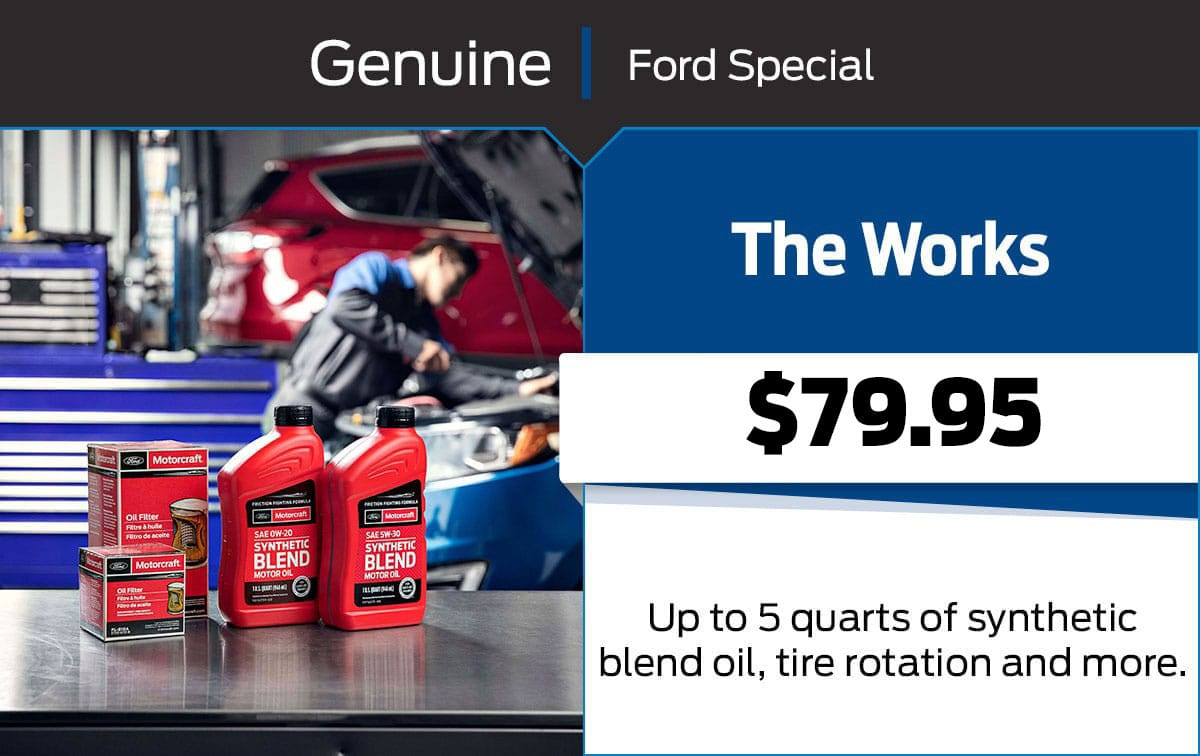 Ford The Works Service Special Coupon