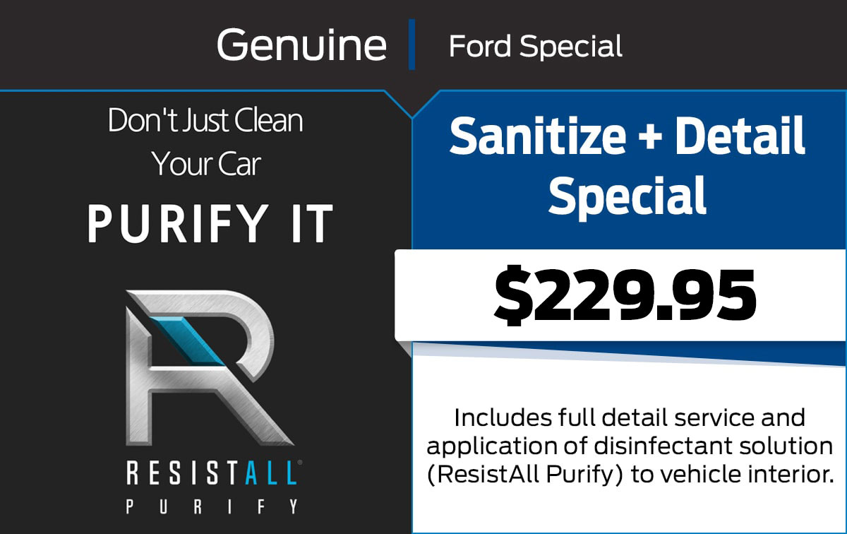 Ford Sanitize & Detail Service Special Coupon