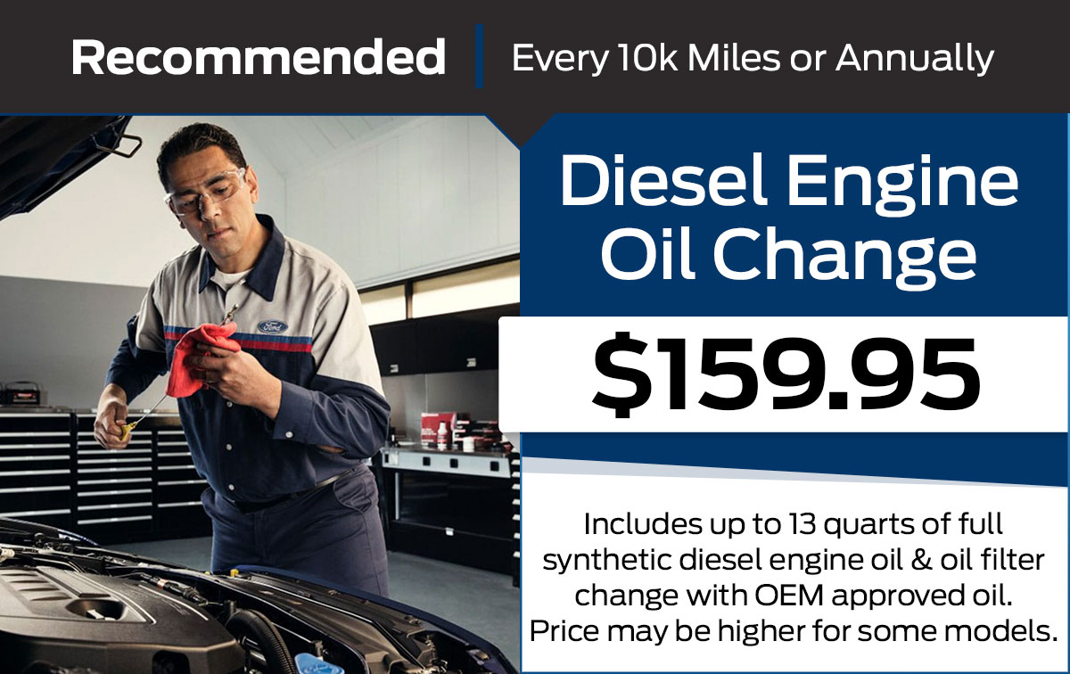 Ford Diesel Engine - Full Synthetic Oil Change Service Special Coupon