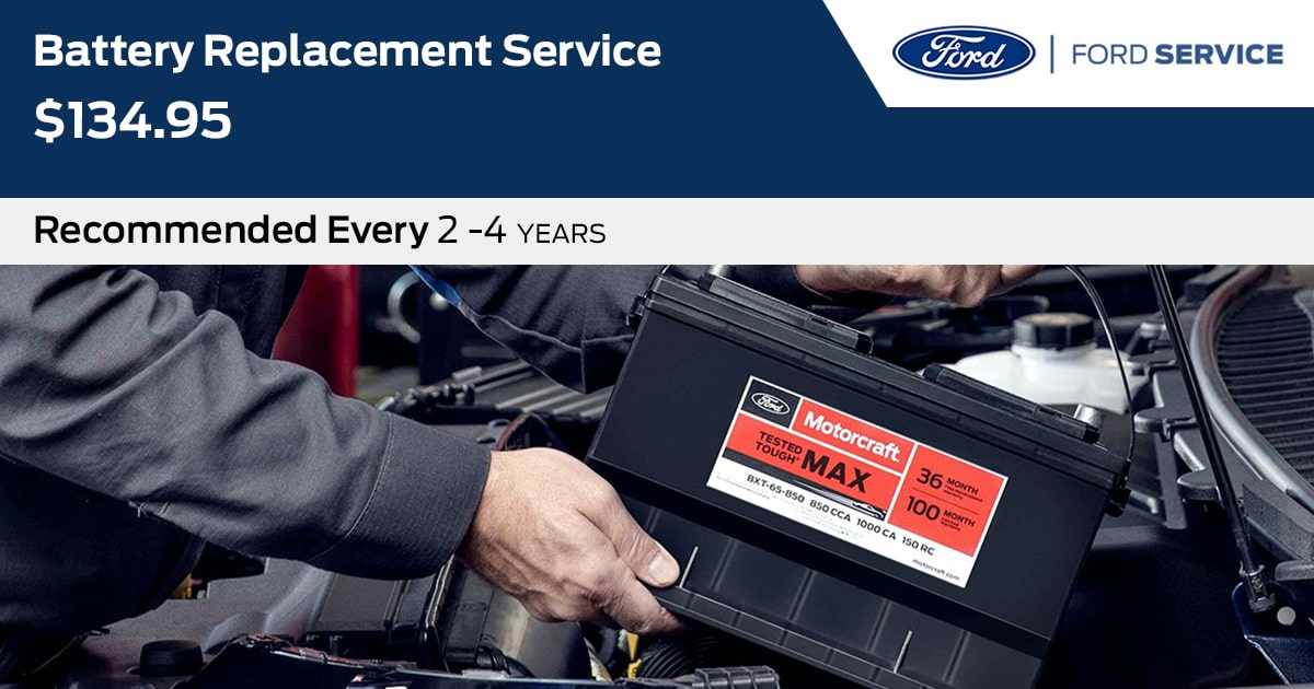 Ford Battery Replacement Service Special Coupon