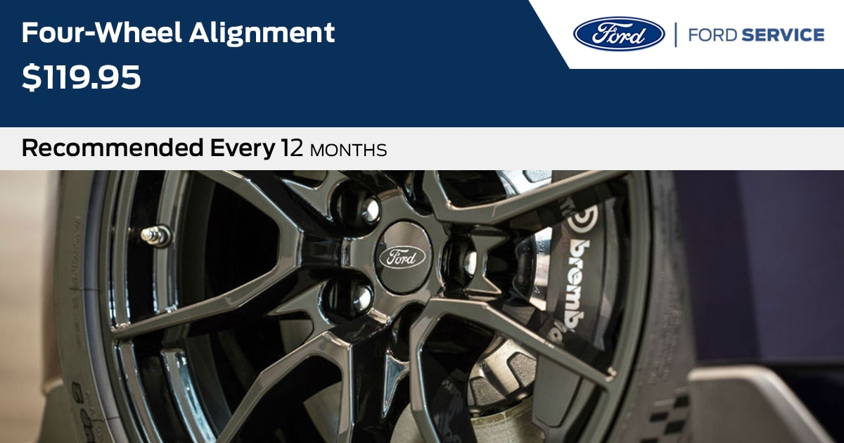 Ford Four-Wheel Alignment Service Special Coupon