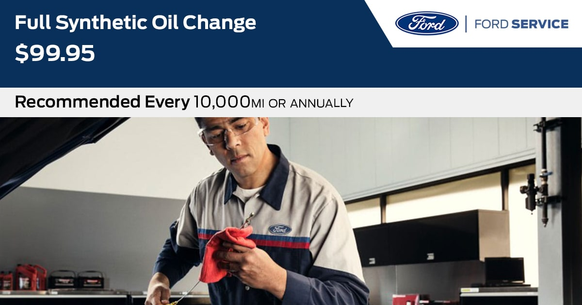 Ford Synthetic Oil Change Service Special Coupon