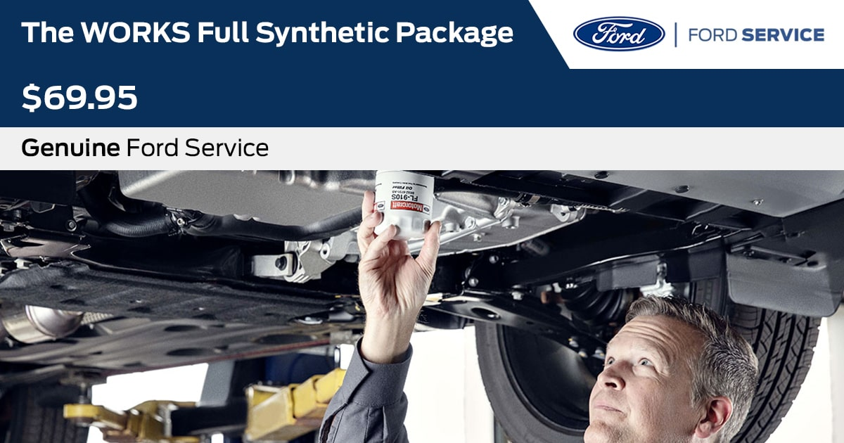 Ford The WORKS Full Synthetic Package Service Special Coupon