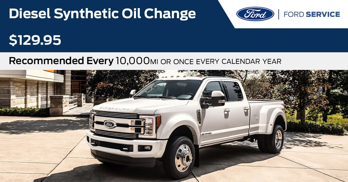 Ford Diesel Synthetic Oil Change Service Special Coupon
