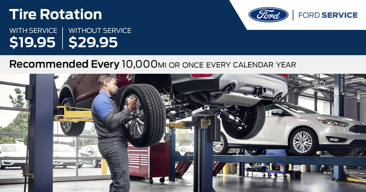 Ford Tire Rotation Service Special Coupon