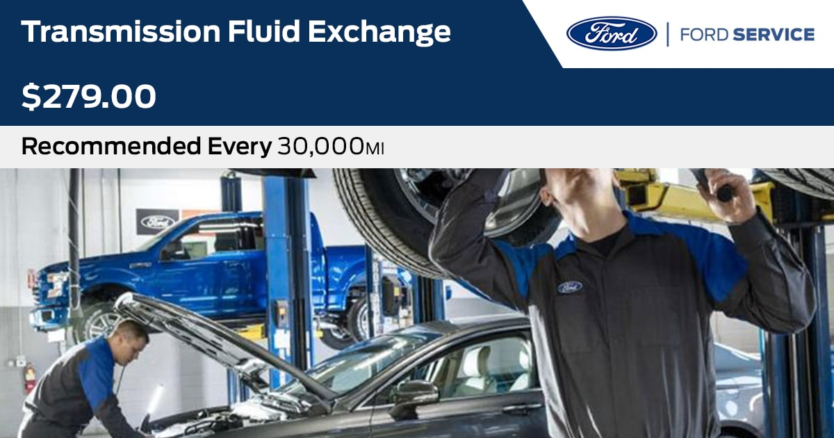 Ford Transmission Fluid Exchange Service Special Coupon