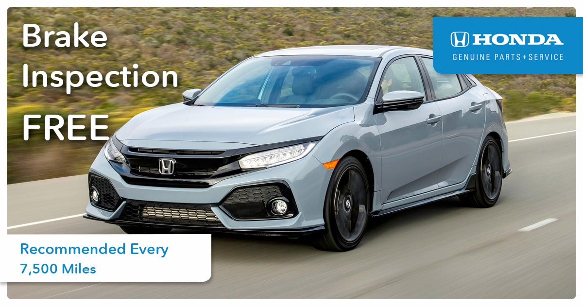 Honda Brake Inspection Service Special Coupon