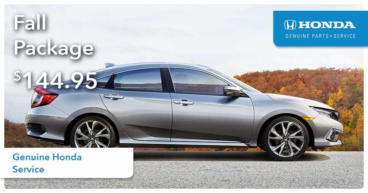 Honda Fall Package Service Special Coupon