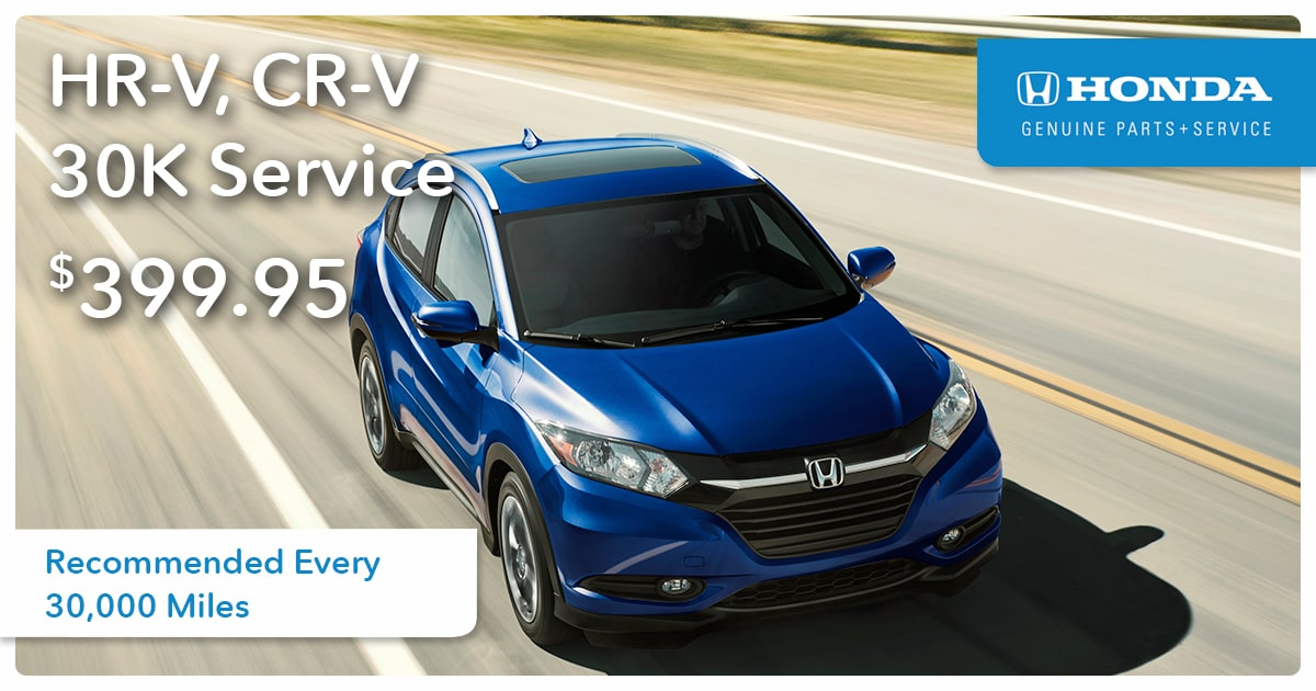 Honda HR-V, CR-V 30K Service Special Coupon