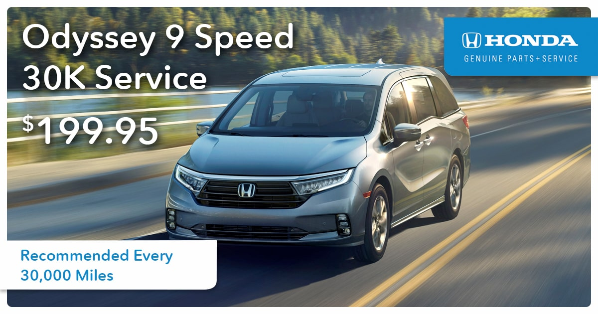 Honda Odyssey 9 Speed 30K Service Special Coupon