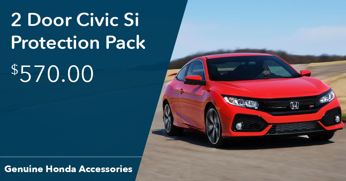 Honda 2 Door Civic Si Protection Pack Special Coupon