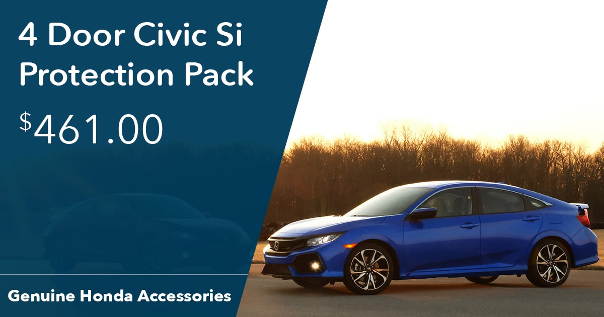 Honda 4 Door Civic Si Protection Pack Special Coupon