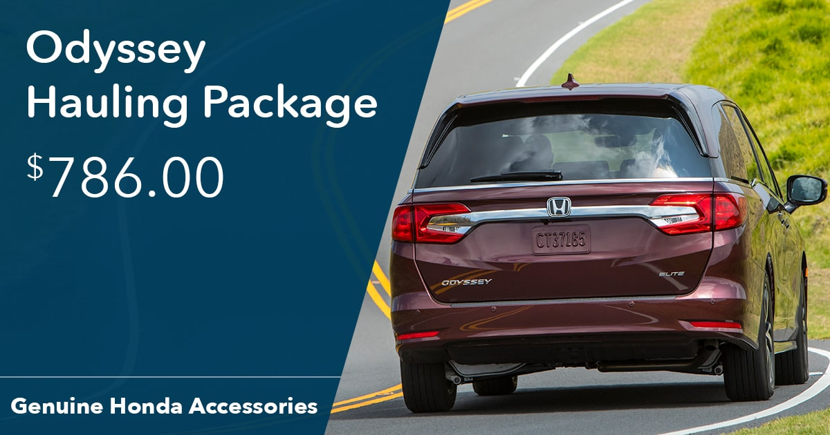 Honda Odyssey Hauling Package Special Coupon