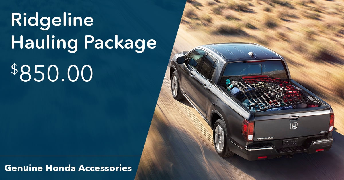 Honda Ridgeline Hauling Package Special Coupon