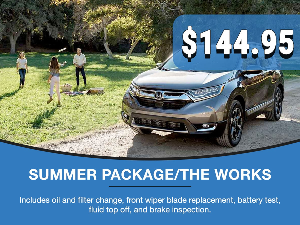 Honda Summer Package Service Special Coupon