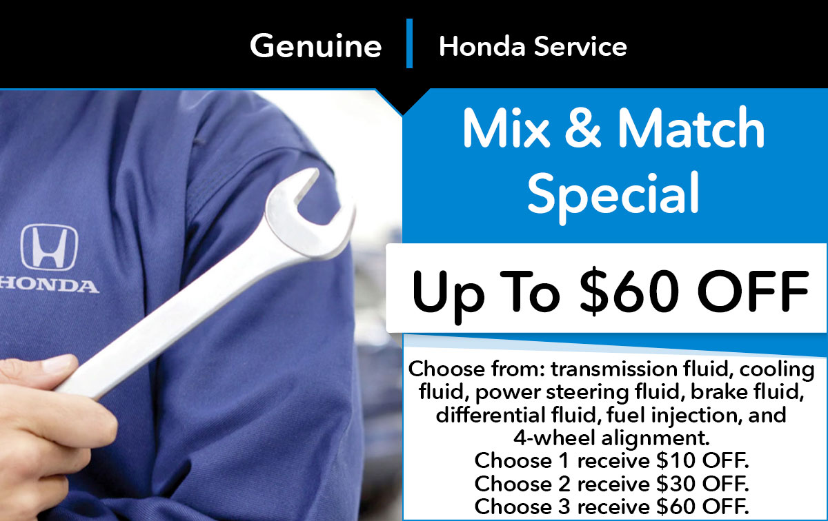 Honda Mix & Match Service Special Coupon