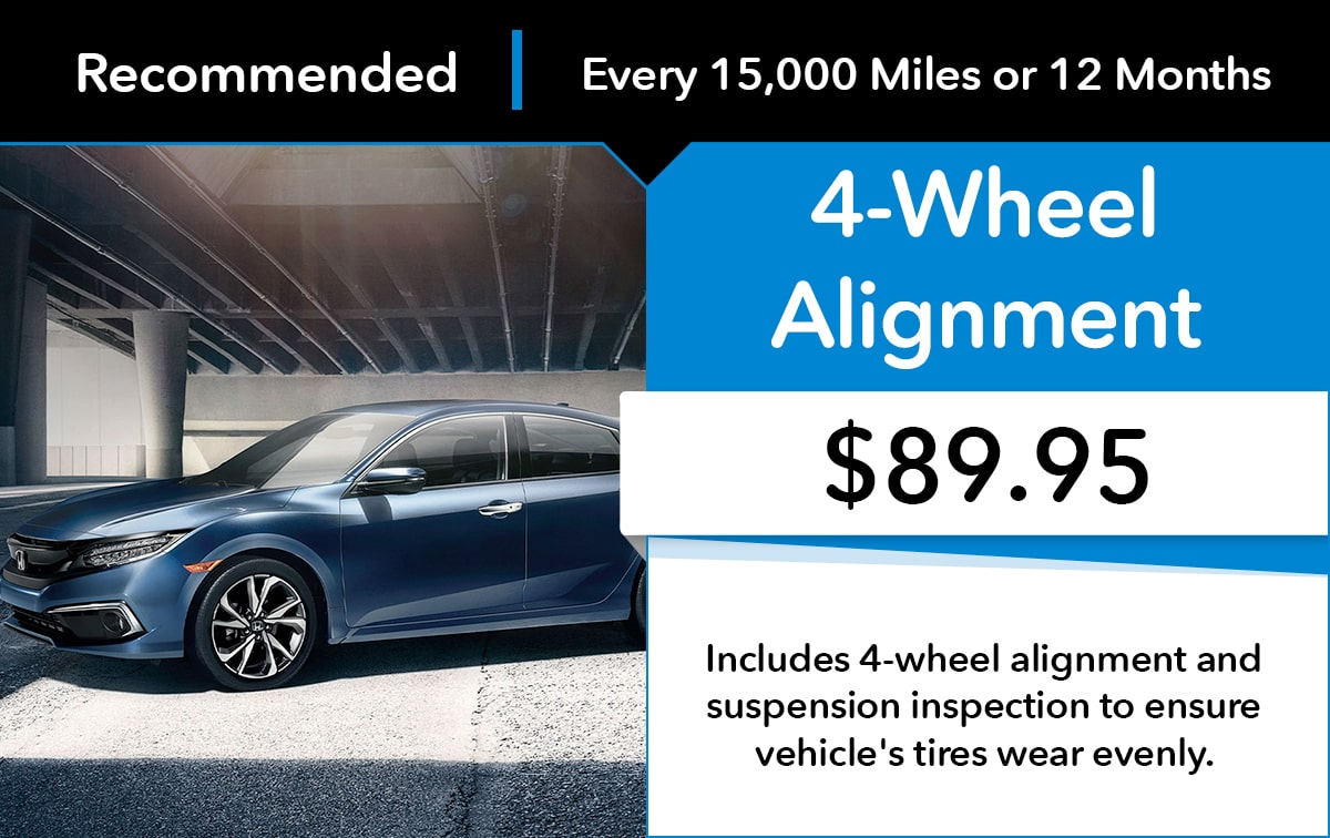 Honda 4 Wheel Alignment Service Special Coupon