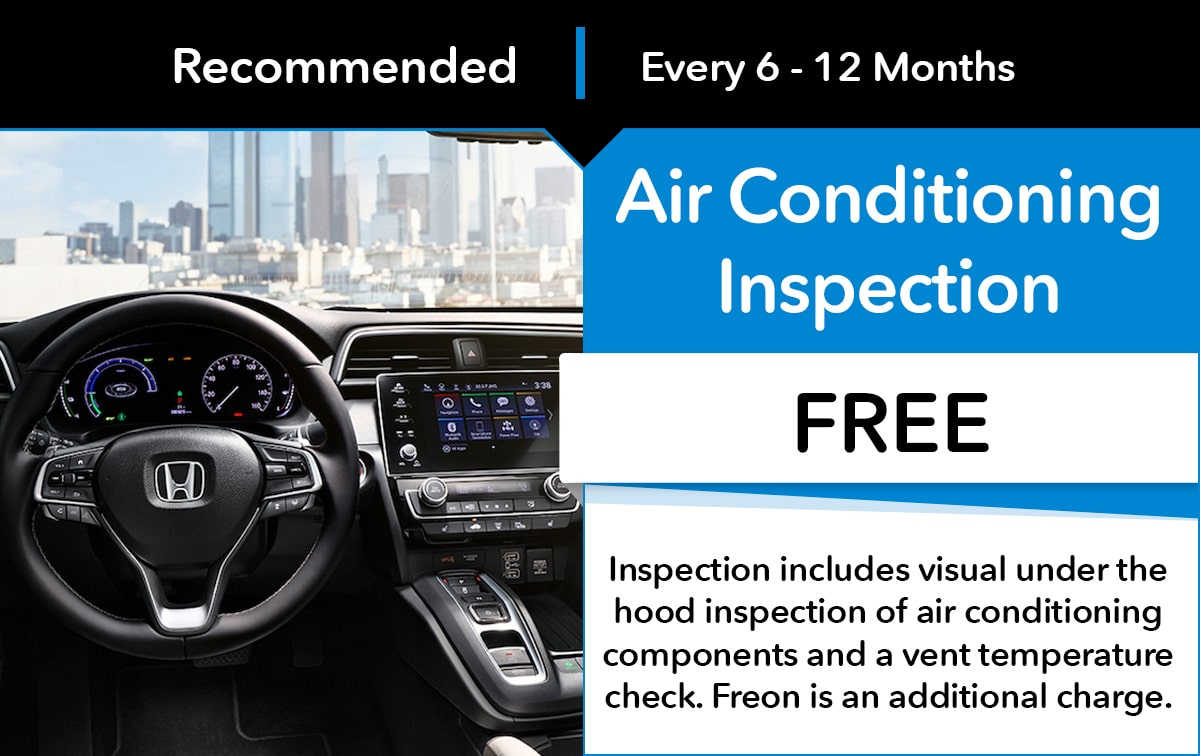 Honda Air Conditioning Inspection Service Special Coupon