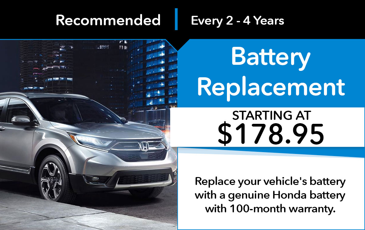 Honda Battery Replacement Service Special Coupon