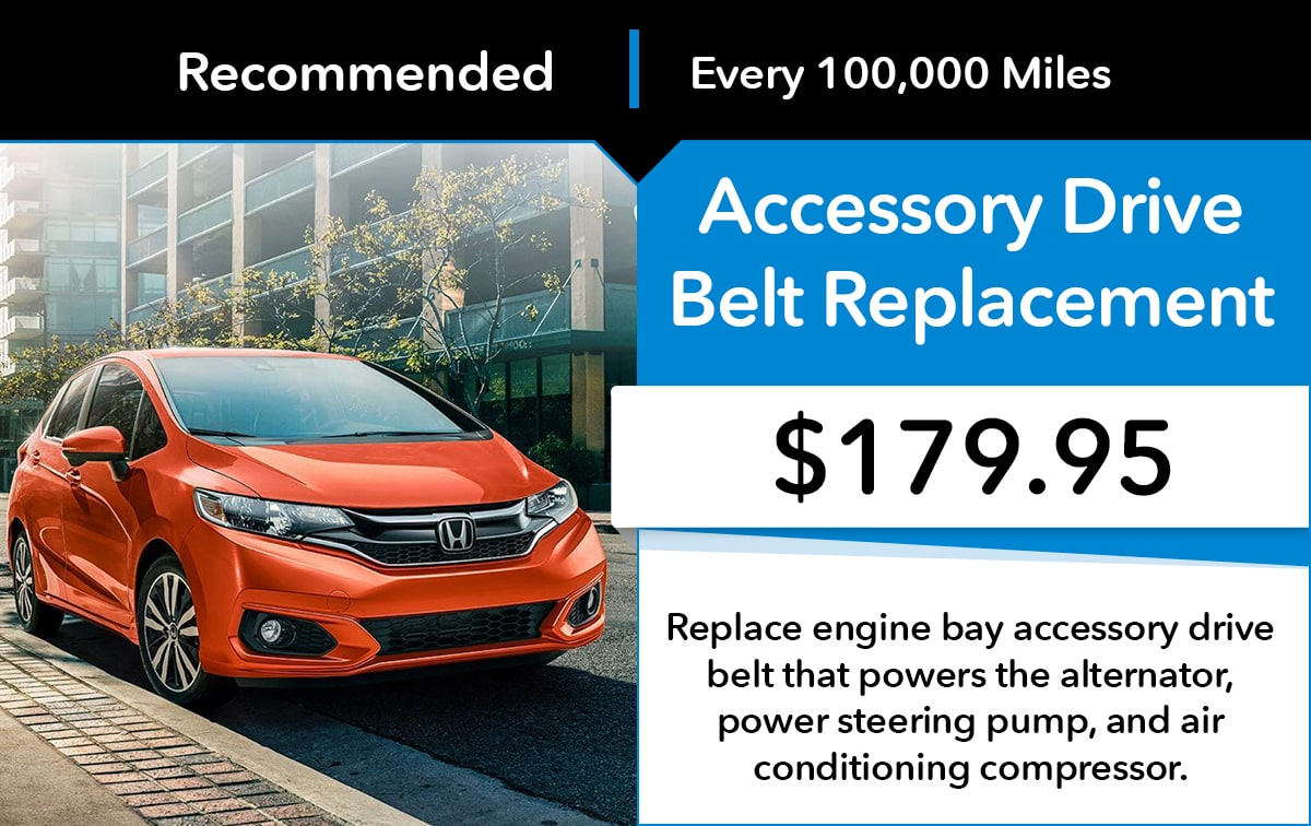 Honda Accessory Drive Belt Replacement Service Special Coupon