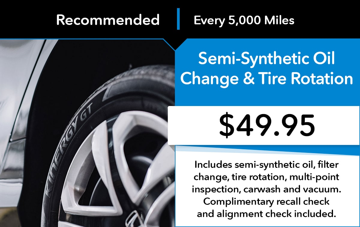 Honda Semi-Synthetic Oil & Tire Rotation Service Special Coupon