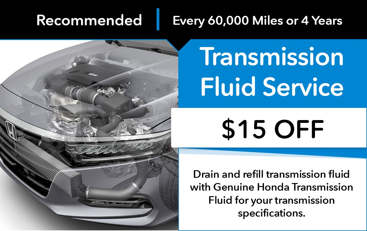 Honda Transmission Fluid Service Service Special Coupon
