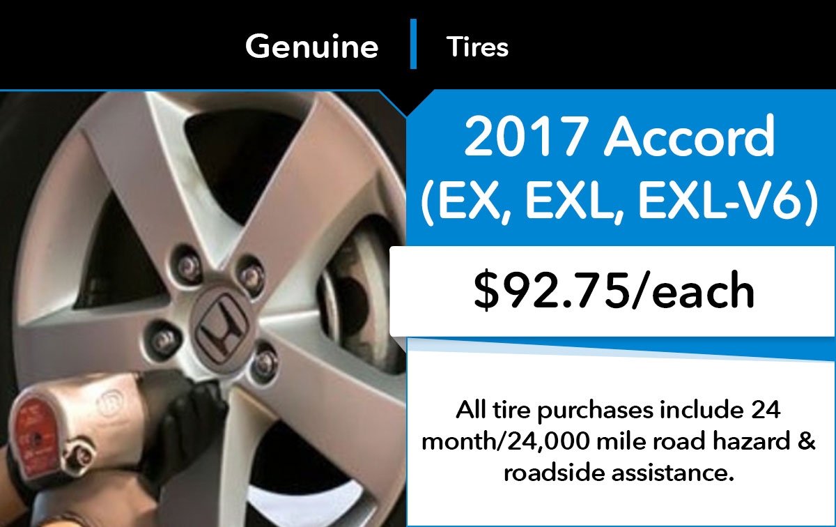 Honda Accord New Tire Service Special Coupon