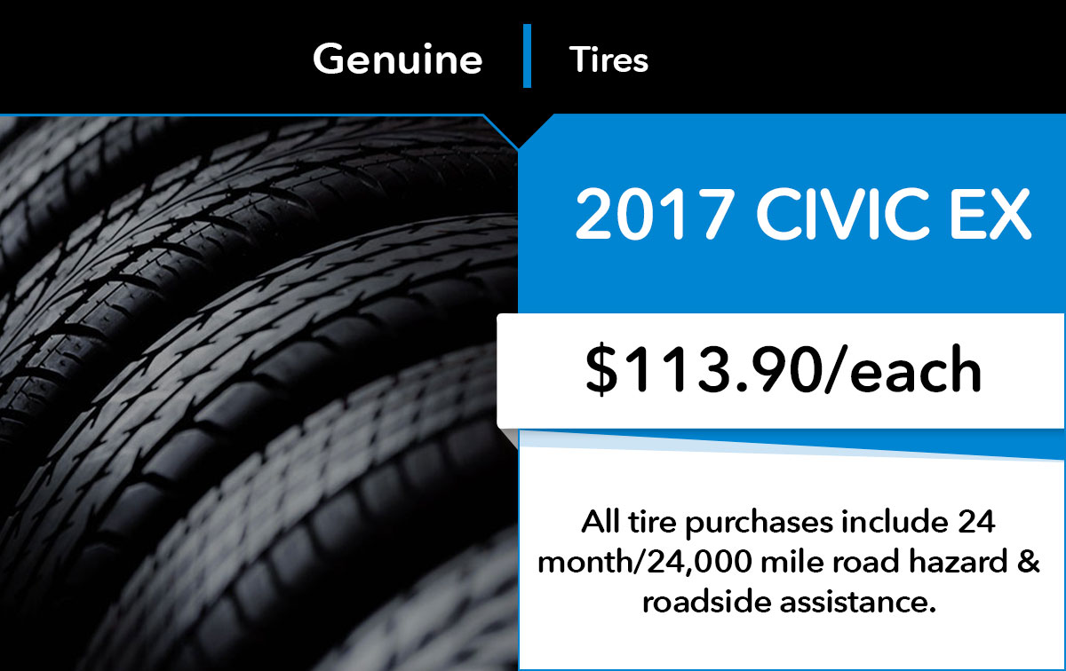 Honda Civic New Tire Service Special Coupon